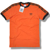 View Item Umbro Classics Diamond Icons Ringer T Shirt Orange